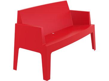 Banc de jardin 'PLEMO XL' rouge en matière plastique