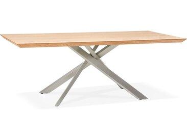 Table à manger 'WALABY' en bois finition naturelle avec pied cen