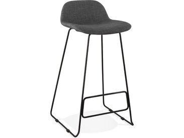 Tabouret de bar design 'MOSKOW' noir style industriel avec pieds