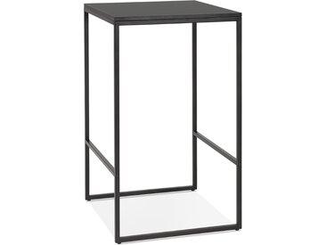 Table haute style industriel 'ORTOS' noire idéale pour les profe