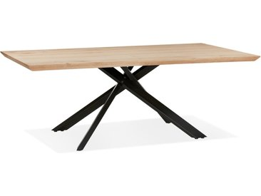 Table de salle à manger 'ROBINSON' en chêne massif avec pied en