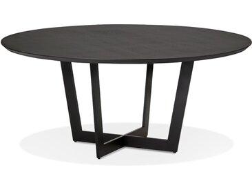Table de salle à manger ronde 'LULU' en bois et métal noir - Ø12