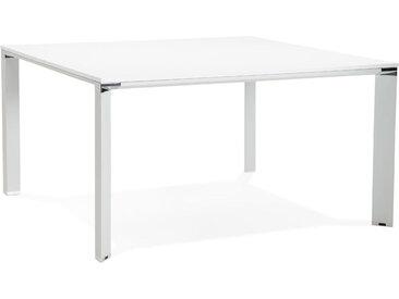 Table de réunion / bureau bench 'XLINE SQUARE' blanc - 140x140 c