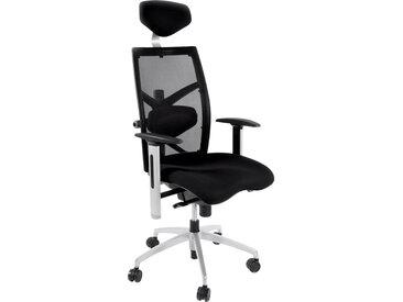 Fauteuil de bureau ergonomique 'OSLO' en tissu noir