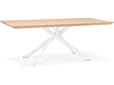 Table à diner 'WALABY' en bois finition naturelle avec pied cent