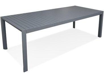 Table de jardin extensible 'SAMUI' en aluminium gris foncé - 180