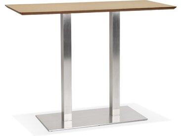 Table haute design 'MAMBO BAR' en bois finition naturelle avec p