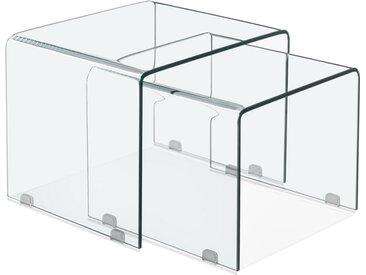 Set de 2 tables gigognes design emboîtables 'BOBBY DOUBLE SIDE'