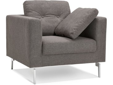 Fauteuil de salon 1 place 'SIXTY MINI' en tissu gris très modern