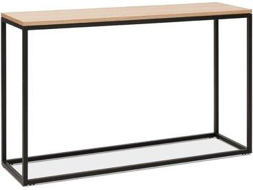Table console style industriel 'RIVER' en bois finition naturell