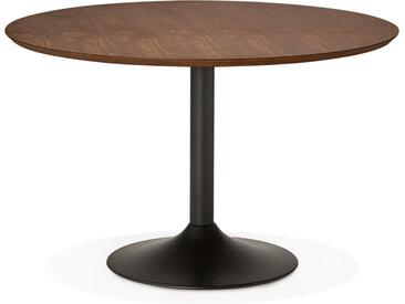 Table à diner/de bureau ronde 'CHEF' en bois finition Noyer - Ø