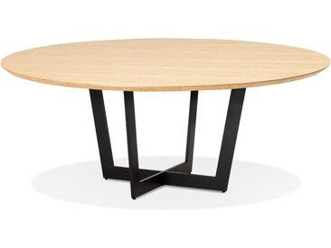 Table de salle à manger ronde 'LULU' en bois finition naturelle
