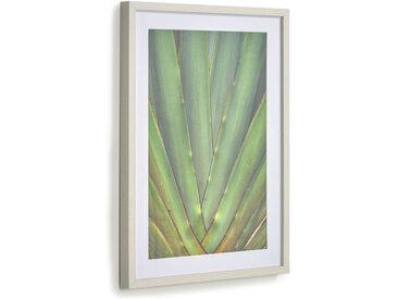 Kave Home - Tableau Lyn aloe vera vert 50 x 70 cm