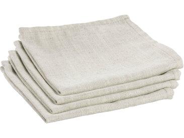 Kave Home - Lot de 4 serviettes de table Samay blanc