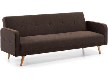 Kave Home - Canapé-lit  Roger 210 cm marron