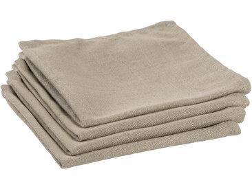 Kave Home - Lot de 4 serviettes de table Samay beige
