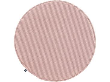 Kave Home - Galette de chaise ronde Sora velours côtelé rose Ø 35 cm