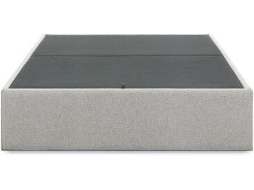 Kave Home - Sommier coffre Matter 140 x 190 cm gris