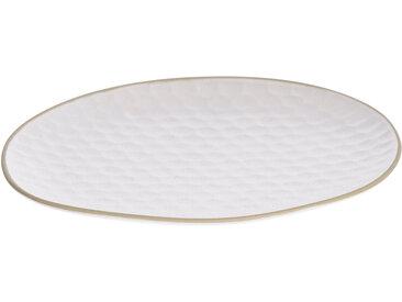 Kave Home - Assiette plate Manami petit en céramique blanc