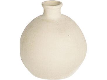 Kave Home - Vase Caetana céramique blanc 22 cm