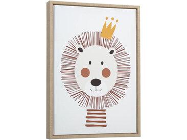 Kave Home - Tableau Uriana 30 x 42 cm lion marron