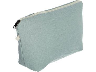 Kave Home - Trousse de toilette Breisa 100% coton (GOTS) turquoise