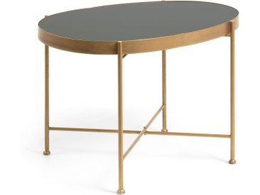 Kave Home - Table d'appoint Marlet Ø 45 x 63 cm doré