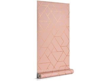 Kave Home - Papier peint Gea rose et doré 10 x 0,53 m