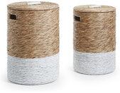 Kave Home - Set Mast de 2 paniers linge