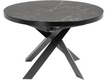 Kave Home - Table extensible Vashti Ø 120 (160) cm plateau grès cérame