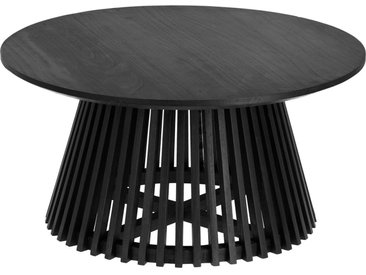 Kave Home - Table basse Jeanette Ø 80 cm noire