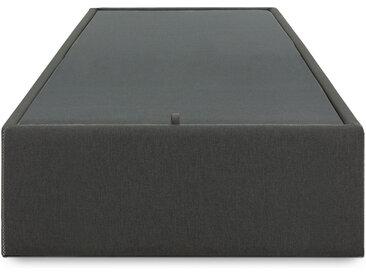 Kave Home - Sommier coffre Matter 90 x 190 cm graphite