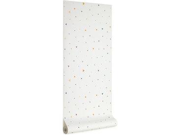 Kave Home - Papier peint Miris imprimé pois et triangles multicolore de 10 x 0,53m FSC MIX Credit