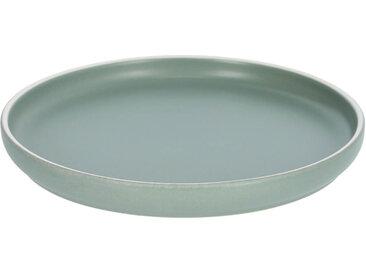 Kave Home - Assiette à dessert Shun en porcelaine verte