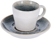 Kave Home - Tasse de café Sachi avec sous-tasse bleu clair