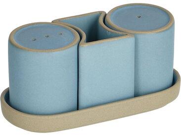 Kave Home - Lot Midori salière et poivrière céramique bleu