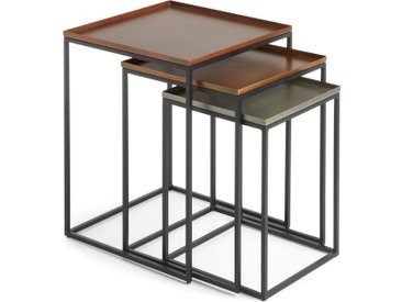 Kave Home - Set Vinker F de 3 tables gigogne