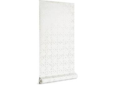 Kave Home - Papier peint Viveka gris et argenté 10 x 0,53 m