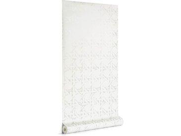 Kave Home - Papier peint Viveka beige et argenté 10 x 0,53 m