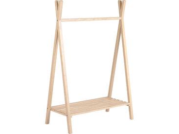 Kave Home - Portemanteau tipi enfant Maralis en bois de frêne 148 x 50 cm