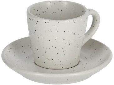Kave Home - Tasse à café avec soucoupe Aratani gris