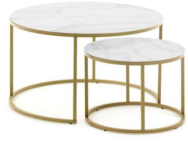 Set de 2 tables d'appoint Leonor