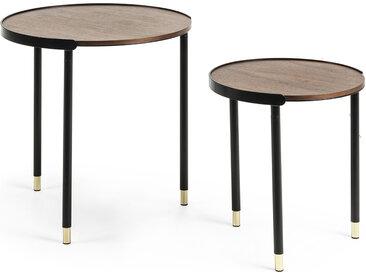 Kave Home - Set Anabel de 2 tables d'appoint Ø 50 / Ø 38 cm