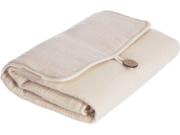 Kave Home - Matelas à langer de voyage Jeila 100% coton bio (GOTS) beige