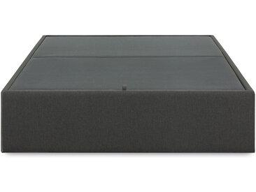 Kave Home - Sommier coffre Matter 140 x 190 cm graphite
