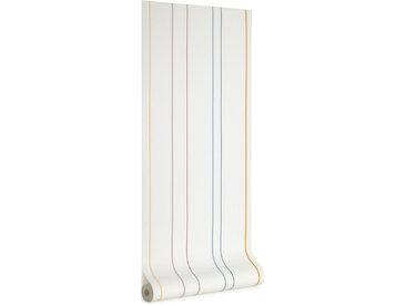 Kave Home - Papier peint Nahilin imprimé rayures multicolore 10 x 0,53m FSC MIX Credit