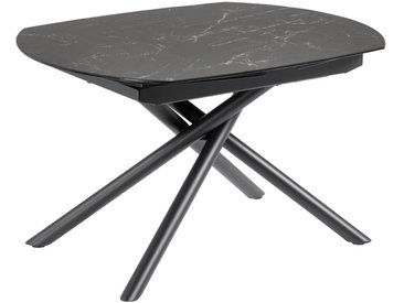 Kave Home - Table extensible Yodalia 130 (190) x 100 cm plateau grès cérame