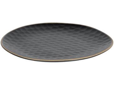 Kave Home - Assiette à dessert Manami en céramique noir