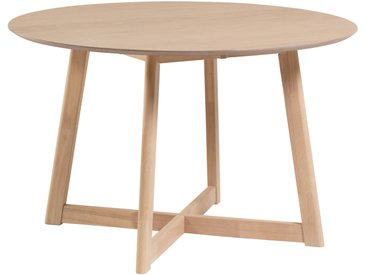 Kave Home - Table extensible Maryse 70 (120) x 75 cm finition en chêne