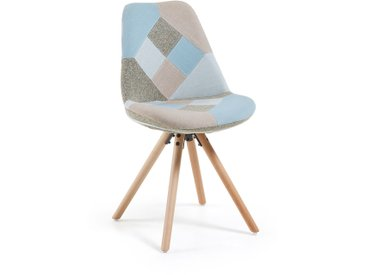 Chaise Ralf patchwork bleu